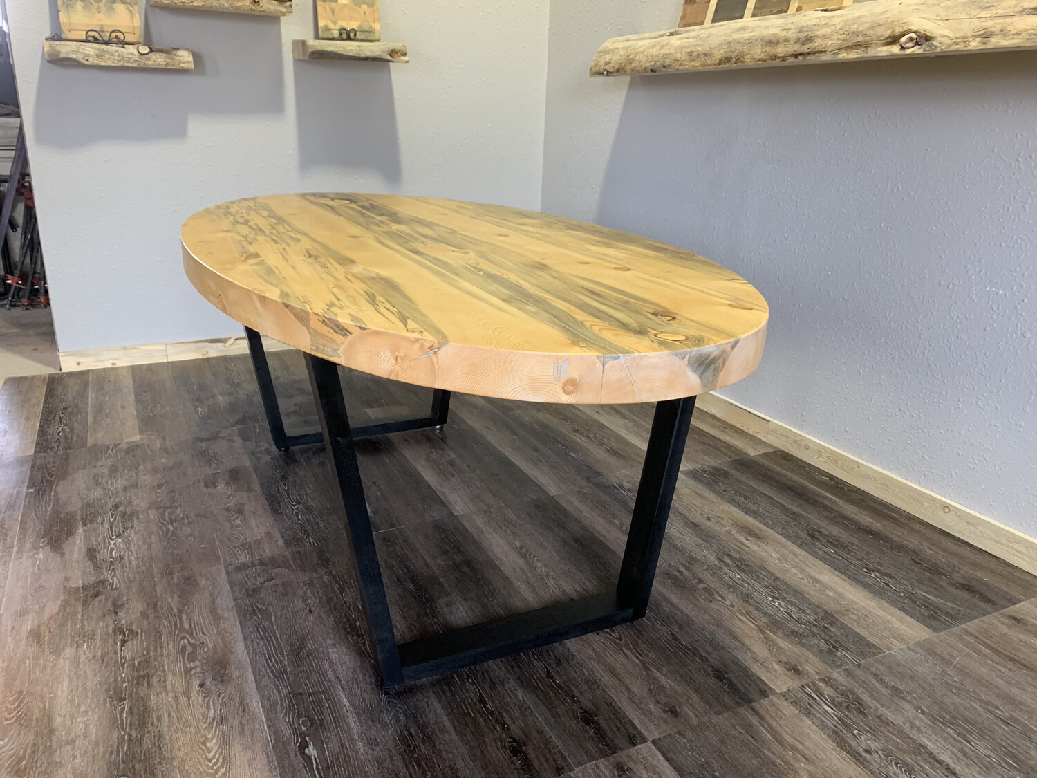 Oval Beetle Kill Dining Table