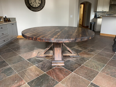 Breckenridge Beetle Kill Round Dining Table