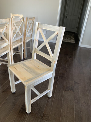 Beetle Kill X-Back Dining Chair