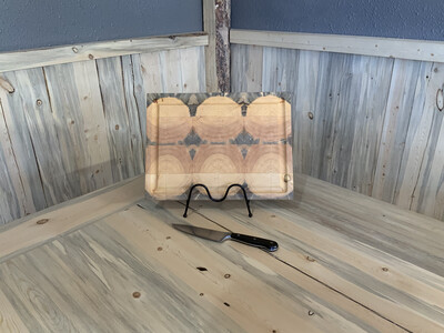 "Large 1"" Rectangle Beetle Pine  Butcher Block"