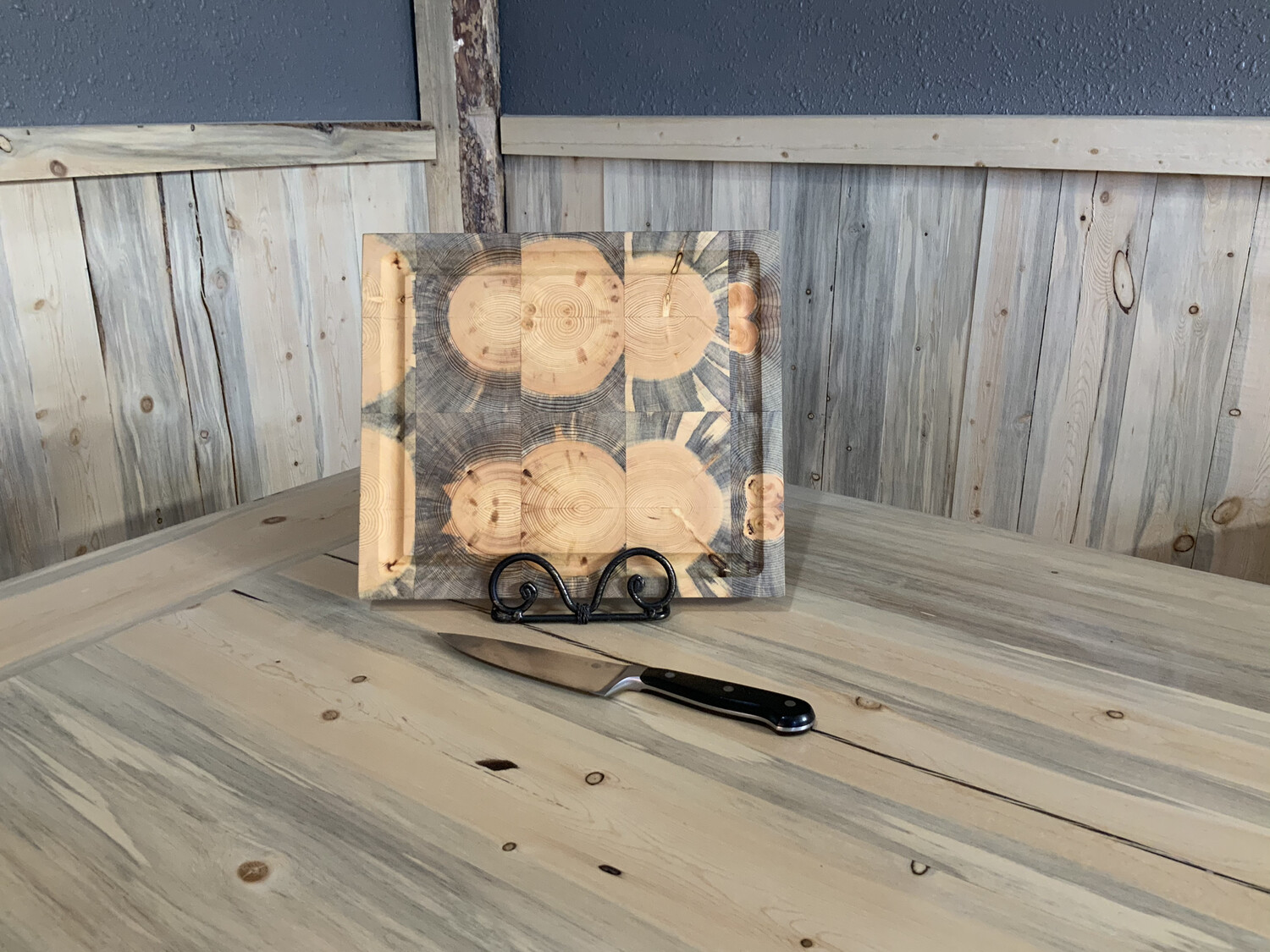 "Small 1"" Square Beetle Kill      Butcher Block"