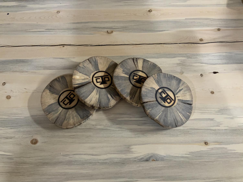 Beetle Kill Log Slice Coasters
