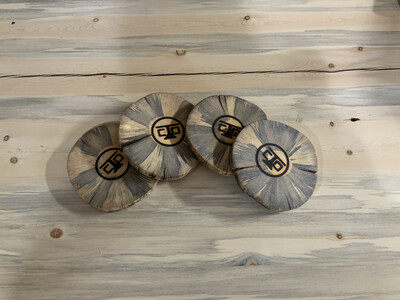 Beetle Kill Log Slice Coasters