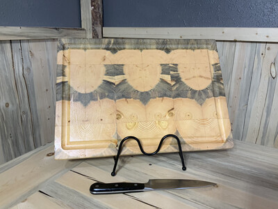 "Large 1"" Rectangle Beetle Kill  Butcher Block"