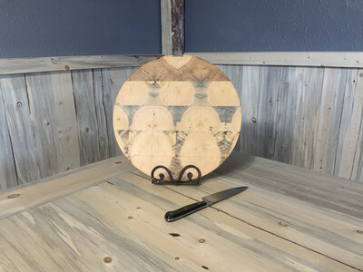 Beetle Kill Lazy Susan Butcher Block