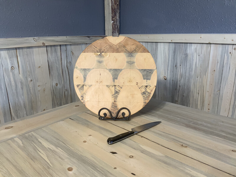 Round Beetle Kill Butcher Block