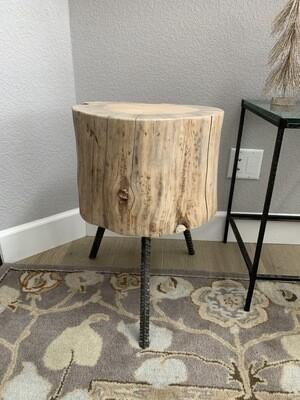 Beetle Kill Stump End Table