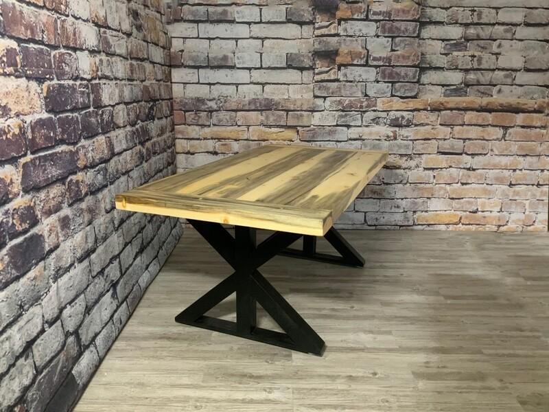 Glacier Beetle Pine Dining Table
