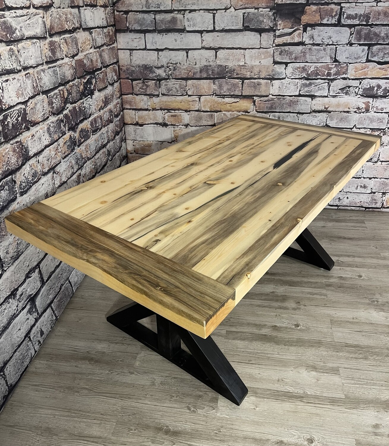 Glacier Beetle Pine Dining Table