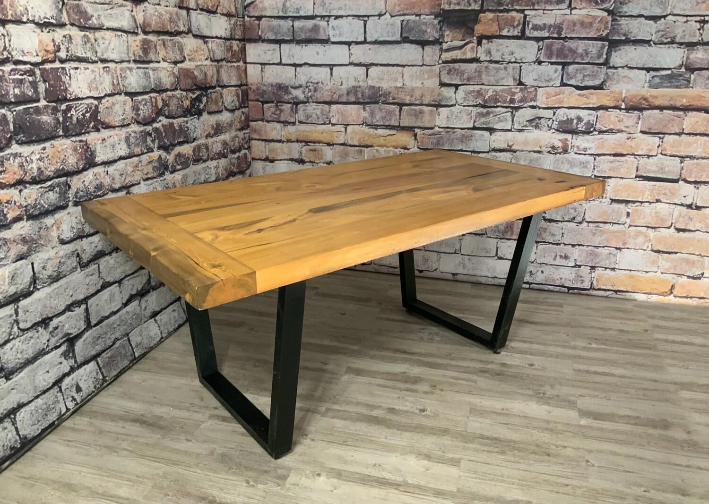 Beetle Pine Dining Table (Miner Table Leg)