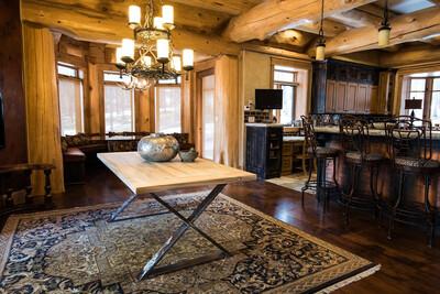 """ParkSideLawn"" Custom Matterhorn Dining Table & Mantel"