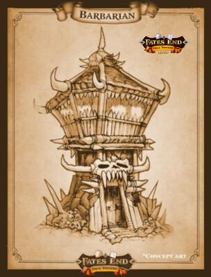Barbarian Dice Tower