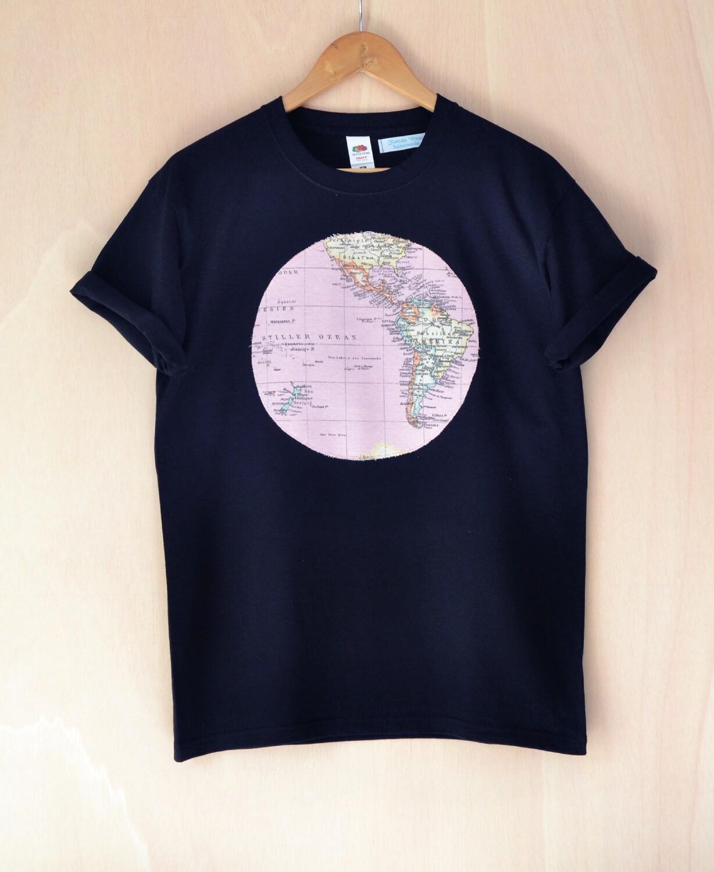 Camiseta Mapa rosa Unisex