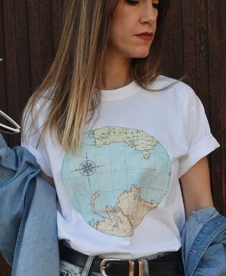 Camiseta Mapamundi Unisex