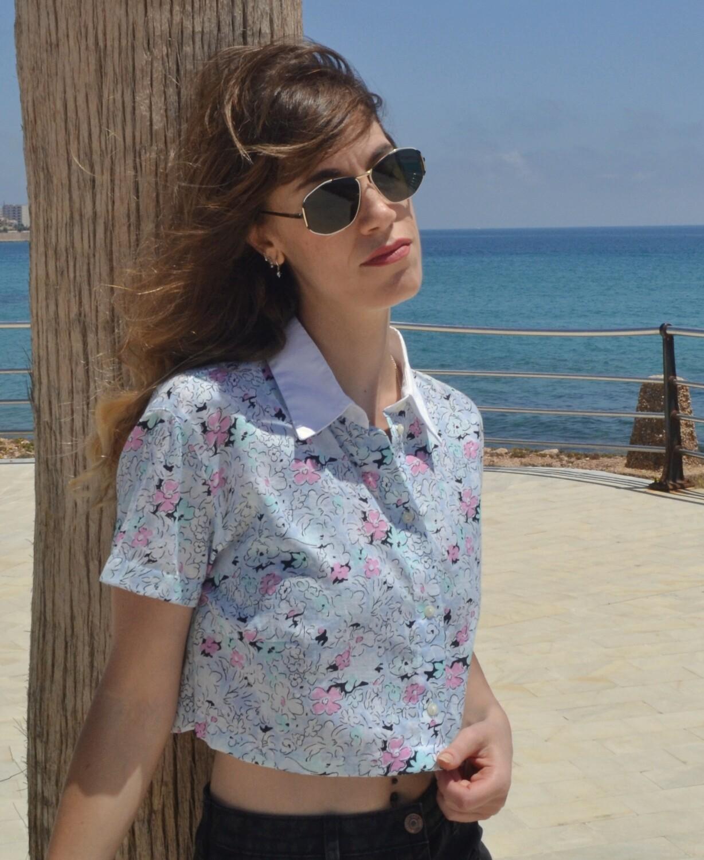 Camisa crop Lady Pecci