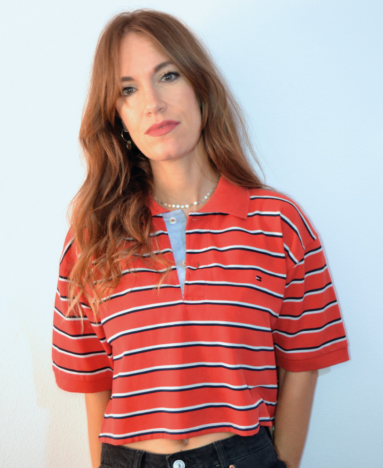 Polo crop Tommy Lines