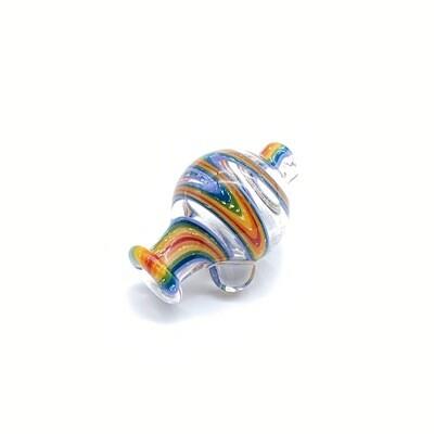 Clear Rainbow Dichro Bubble Cap