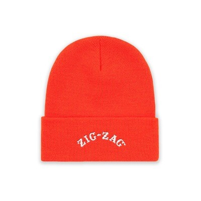 Zig-Zag Logo Beanie - Neon Orange