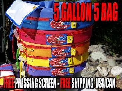 Original Wacky Bubble Hash Bags 5 Gallon, 5 Bag Set