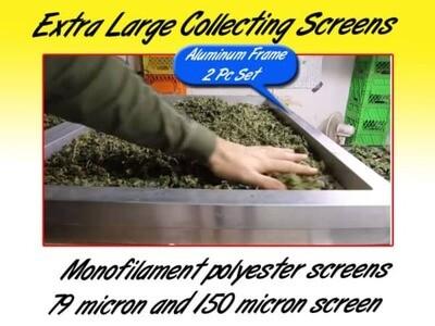 Dry Sift Aluminum Hash Screens: 2 PC Set- 36″ X 25″