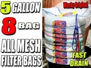 Wacky Bags Bubble Hash 'All Mesh' Filter Bags- 8 Bag Set