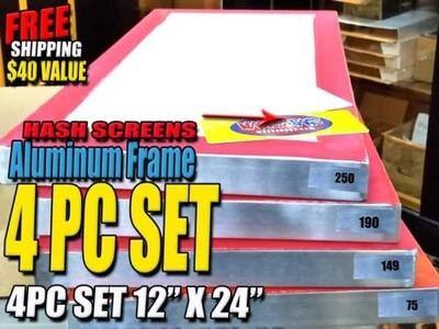 Dry Sift Aluminum Hash Screens: 4 Pc Set –  24″ X 12″