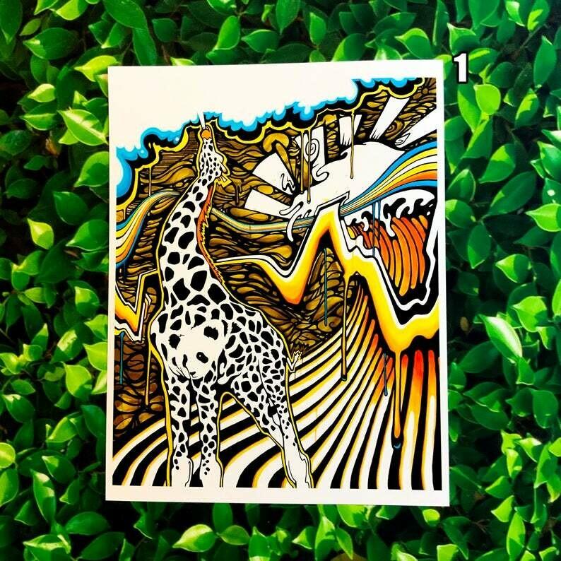 """Heilig Art: Giranda (AKA Exhale) 8x11"""" Print"""