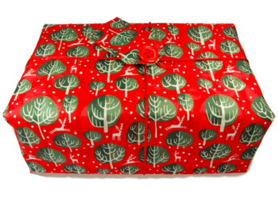 Large Crackle Wrap - Red Berry - 70 x 70cm