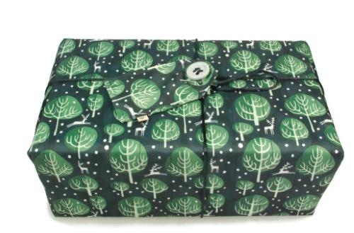 Large Crackle Wrap - Midnight Blue - 70 x 70cm