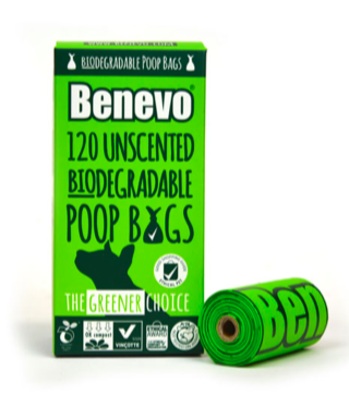Biodegradable poo bags by Benevo