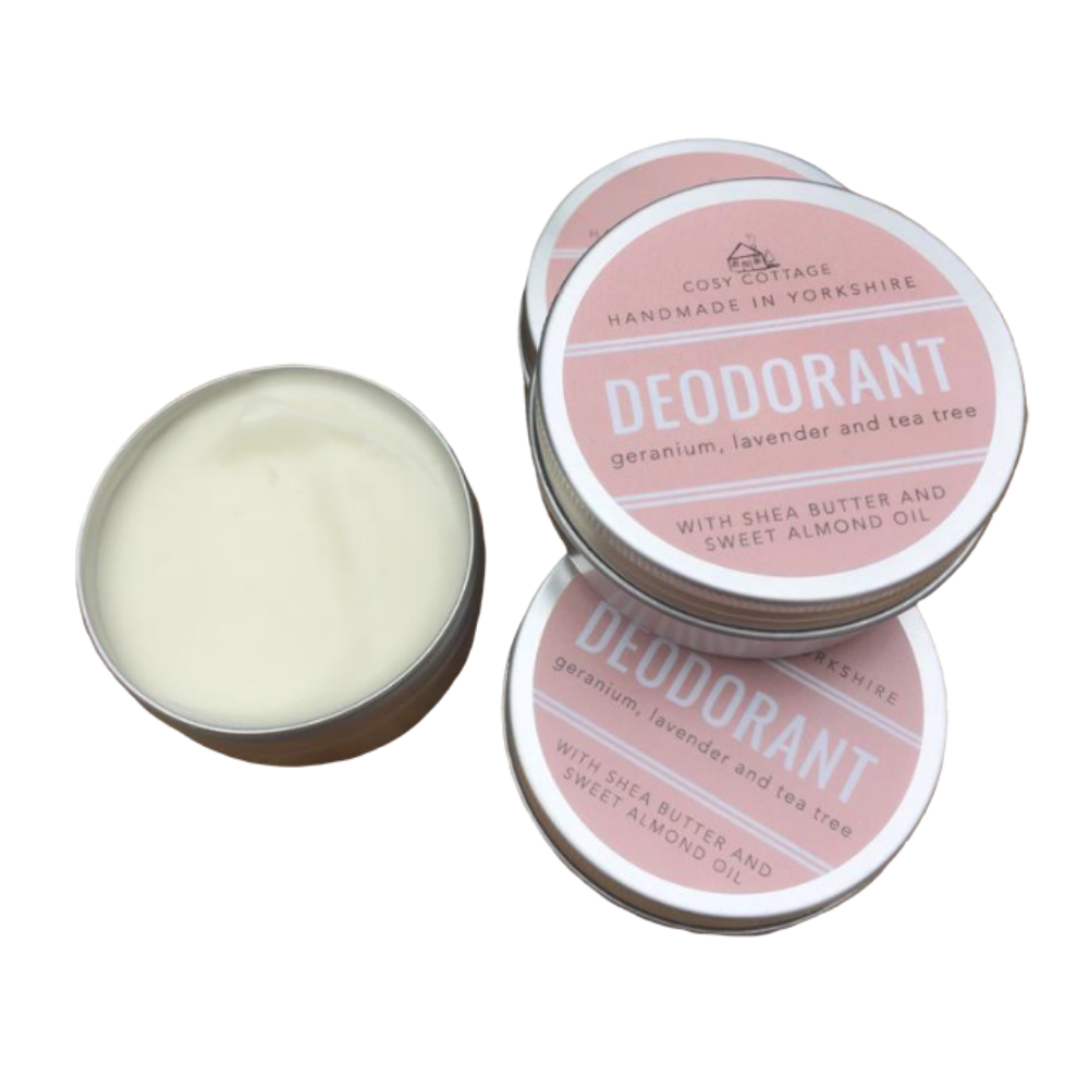 Natural Deodorant with Essential Oils by Cosy Cottage 30ml