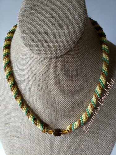 Right Spiral Left Spiral Necklace