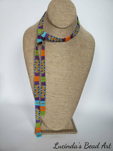 Multicolored Graphic Design Lariat