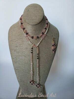 Long, Long Lariat set in Pink