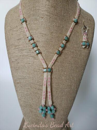 Amazonite Cubes Necklace Set