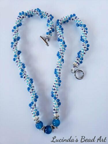 Blue Spirals Necklace