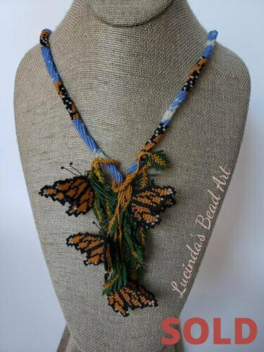 Monarch ButterflyNecklace