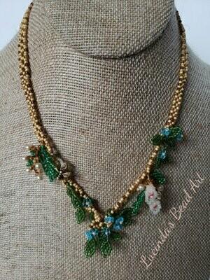 Flowers on a Trellis Necklace