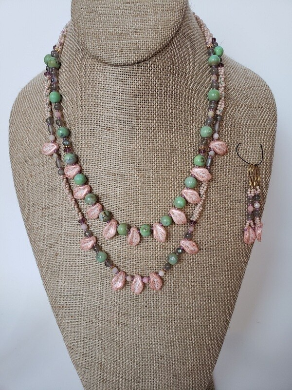 Two Necklace Gemstone Set