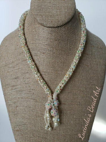 Snow Queen or Snowballs Necklace