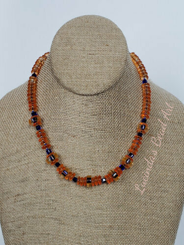 Orange and Cobalt Necklace