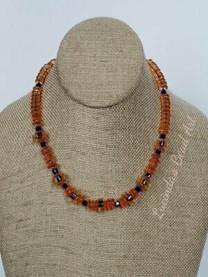 Orange and Cobalt Necklace