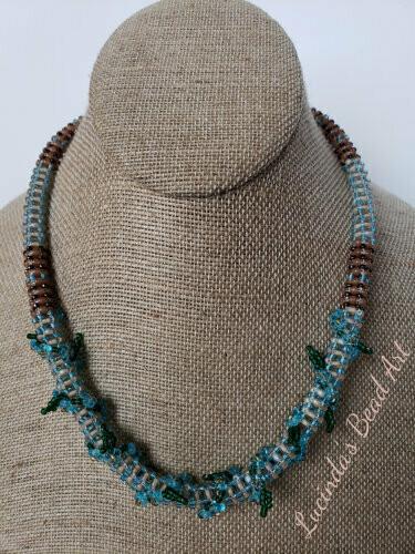 Blue Vine Necklace