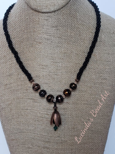 Black and Copper Necklace