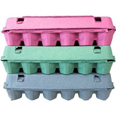 Assorted Colored Egg Cartons