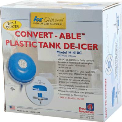 Farm Innovators Plastic Tank Heated De-Icer 2-in-1