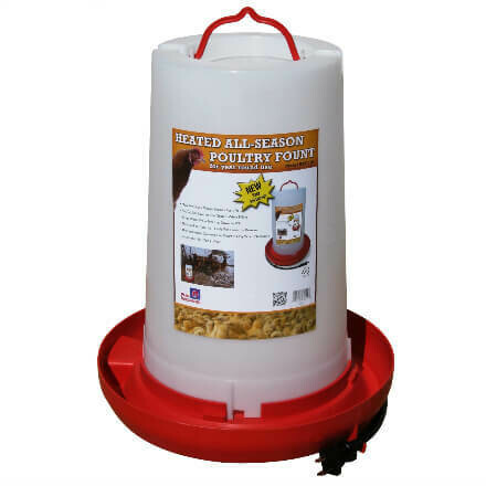 Farm Innovators 3 Gallon Heated Poultry Fount
