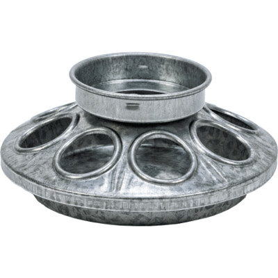 Galvanized 8-Hole Mason Jar Chick Feeder Base