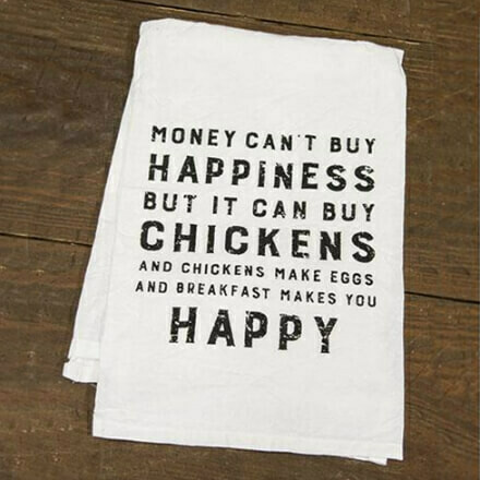 Money Can't Buy Happiness Hand Towel