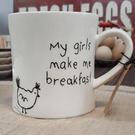 My Girls Make Me Breakfast Mug
